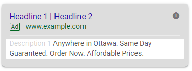 PPC URLs and titles