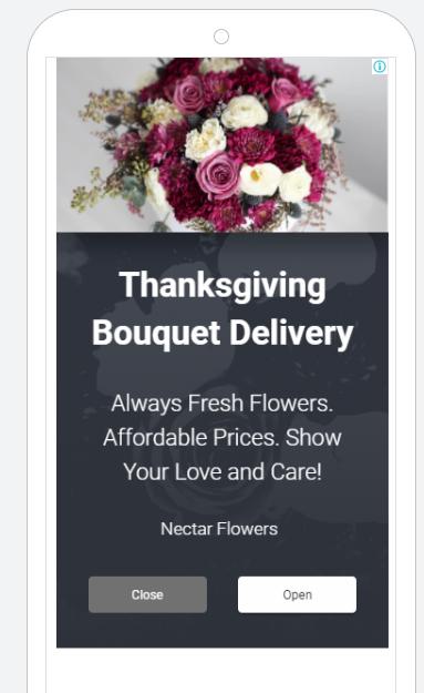 PPC Thanksgiving full screen banner